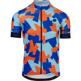 AGU Camo Tile Shortsleeve Jersey Herrer, oxford blue